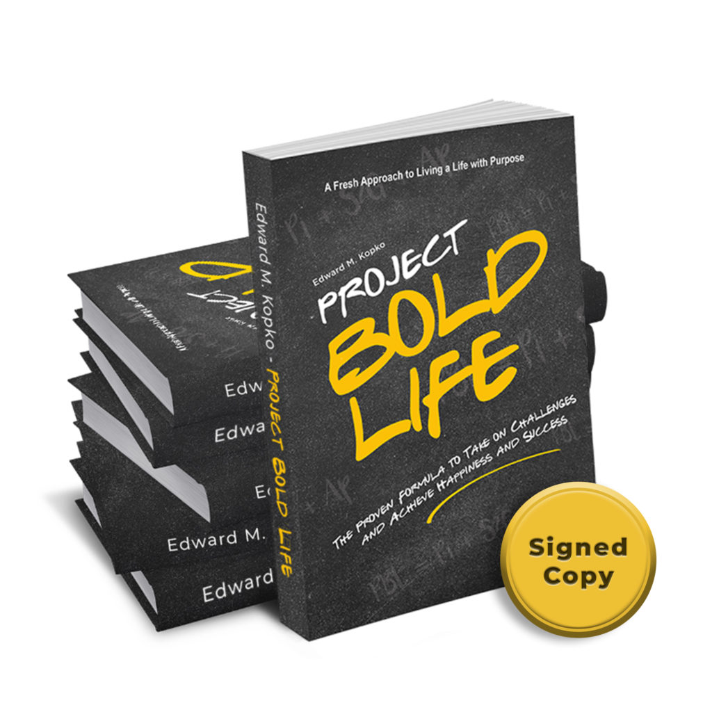 Sign copy project bold life book