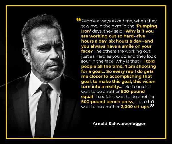 Arnold Schwarzenegger Goal Setting Resources