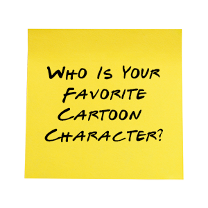 Who Is Your Favorite Cartoon Character Sticky