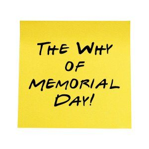 The Why of Memorial Day sticky notes